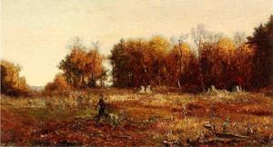 Jervis Mcentee - Gathering Autumn Leaves