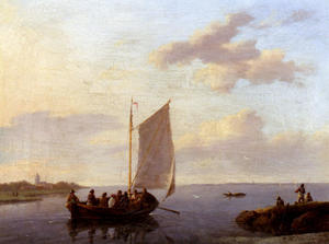 Johannes Hermann Barend Koekkoek - Off The Shore