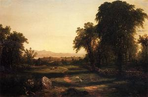 John Frederick Kensett - Chemin over the Terrain - A Reccollection of the Hudson