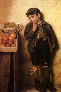 John George Brown - Toisant le stand de fruits