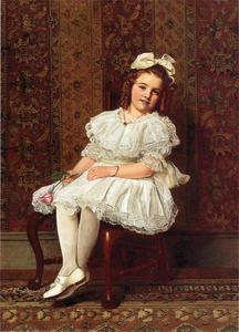 John George Brown - Portrait de Mlle Gibson