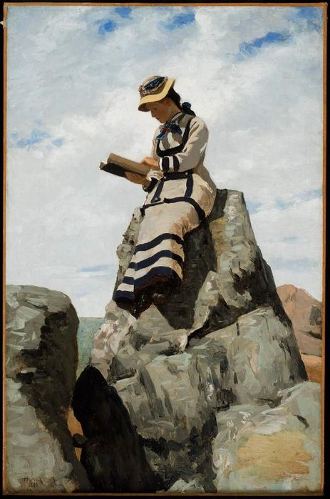 lecture sur l` rocks , Grandiose Manan de John George Brown (1831-1913, United Kingdom) | Reproduction Peinture | WahooArt.com