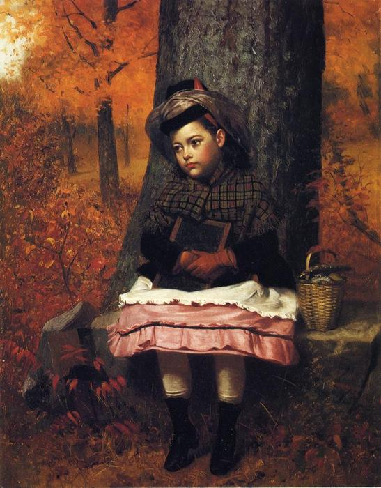 Ecole Bound, 1873 de John George Brown (1831-1913, United Kingdom) | WahooArt.com