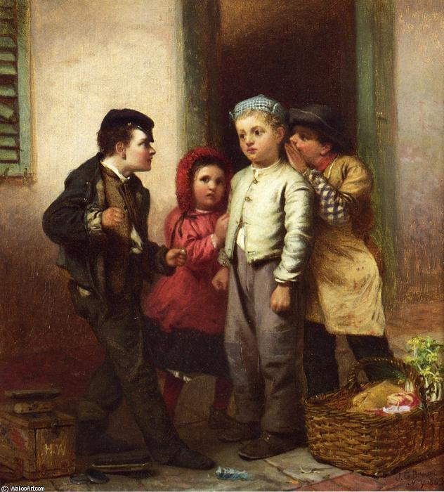 Désolé Il Spoke, 1863 de John George Brown (1831-1913, United Kingdom) | Reproductions De Peintures Célèbres | WahooArt.com