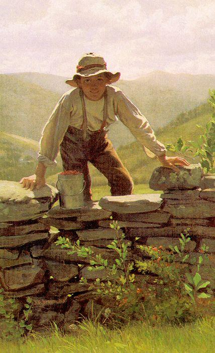 Le Berry Boy de John George Brown (1831-1913, United Kingdom)