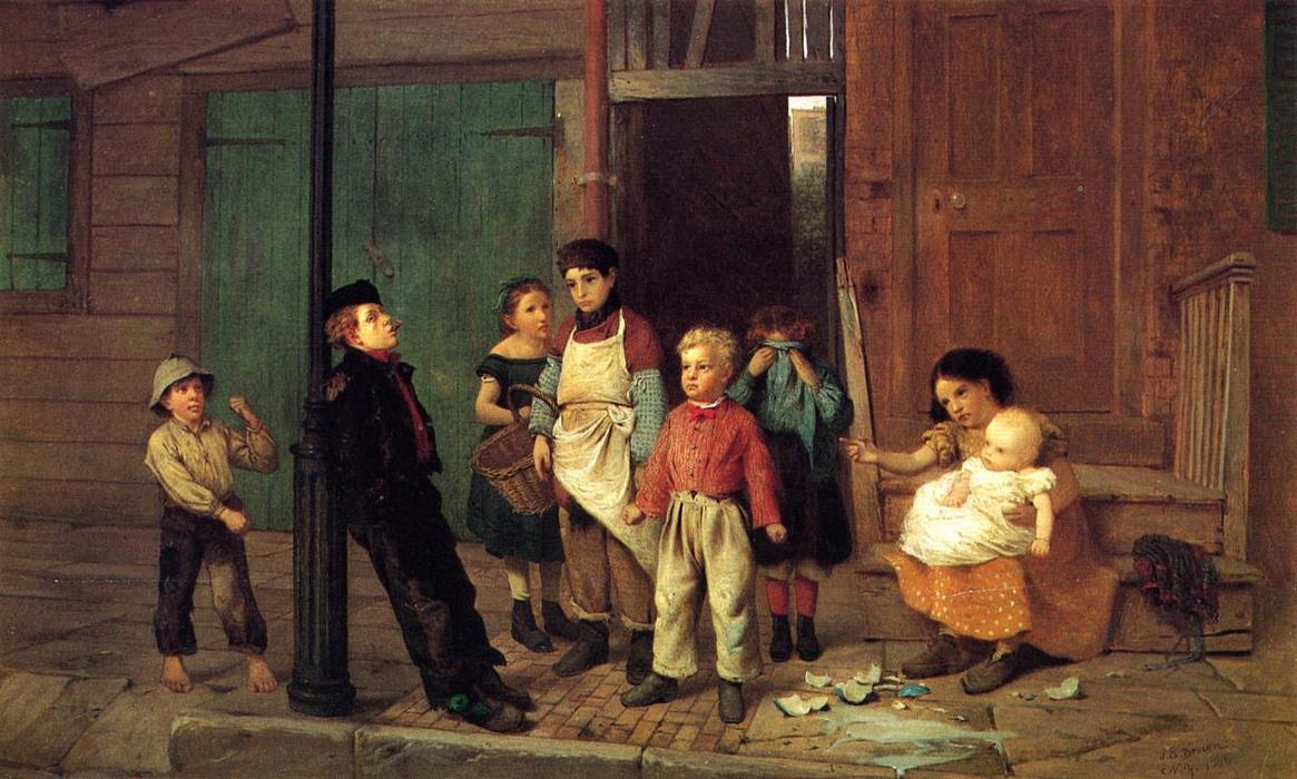 Le Bully du Quartier de John George Brown (1831-1913, United Kingdom) | Copie Tableau | WahooArt.com