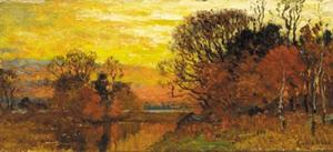 John Joseph Enneking - Sunset Afterglow