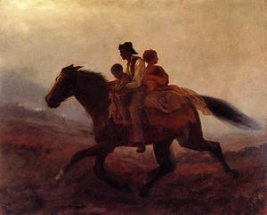 Jonathan Eastman Johnson - un tour pour Freedom - le fugitif Esclaves