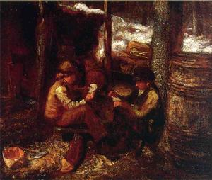 Jonathan Eastman Johnson - à l' `maple` sucre camp