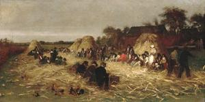 Jonathan Eastman Johnson - Corn Husking à Nantucket