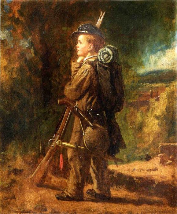 peu soldat de Jonathan Eastman Johnson (1824-1906, United Kingdom) | Reproductions D'art Sur Toile | WahooArt.com