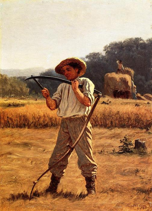 Homme avec Scythe de Jonathan Eastman Johnson (1824-1906, United Kingdom)