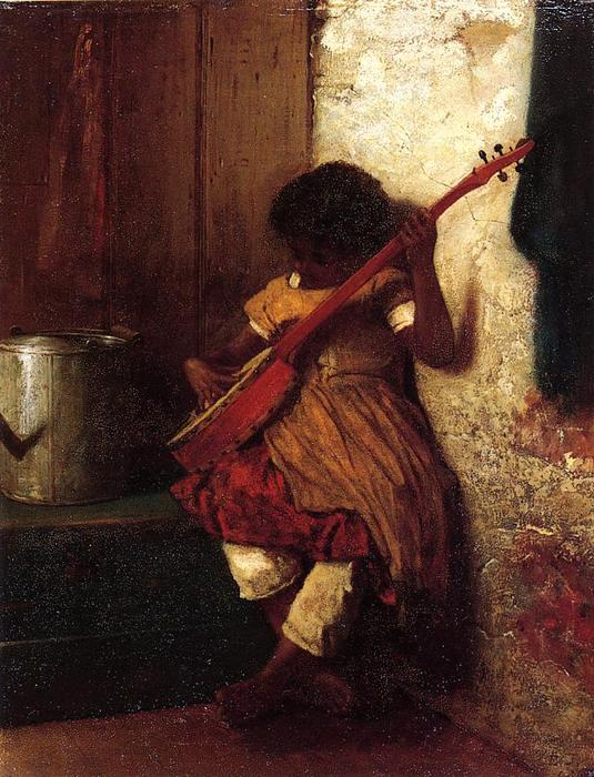 Achat Copie Tableau : Instinct musicale de Jonathan Eastman Johnson (1824-1906, United Kingdom) | WahooArt.com
