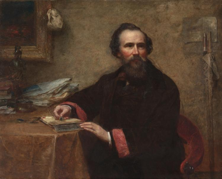 Achat Reproductions De Qualité Musée : Portrait de Genio C. Scott de Jonathan Eastman Johnson (1824-1906, United Kingdom) | WahooArt.com