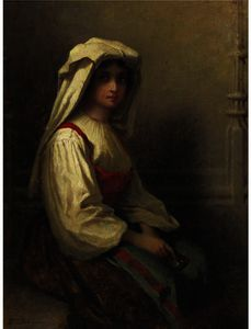 Jonathan Eastman Johnson - The Bohemian Girl