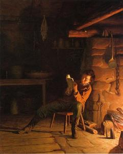 Jonathan Eastman Johnson - L enfance de Abraham Lincoln