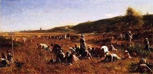 Jonathan Eastman Johnson - Le Cranberry Harvest, île de Nantucket
