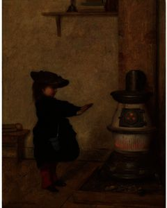 Jonathan Eastman Johnson - Réchauffement ses mains