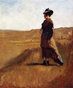 Jonathan Eastman Johnson - femme sur une colline