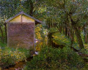 Lilla Cabot Perry - Ruisseau et Wash-house , Giverny