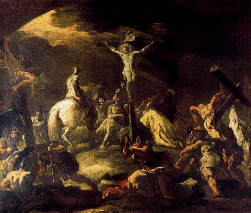 crucifixion de Luca Giordano (1634-1705, Italy) | Reproductions D'art Sur Toile | WahooArt.com