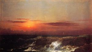 Martin Johnson Heade - coucher du soleil à mer