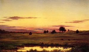 Martin Johnson Heade - Coucher de soleil, Rhode Island