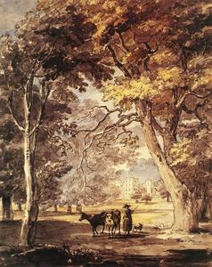 Paul Sandby - CowGirl dans le Grand Parc de Windsor