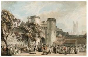 Paul Sandby - Porte Saint-George, Canterbury