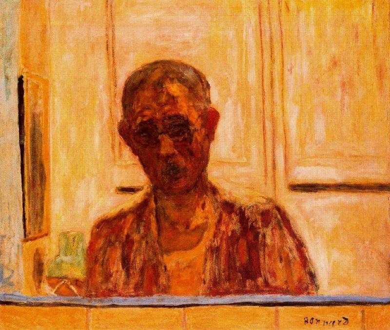 Autoportrait dans le miroir de pierre bonnard 1867 1947 for Autoportrait miroir