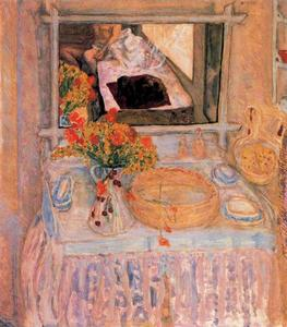 Pierre Bonnard - Table de toilette et miroir