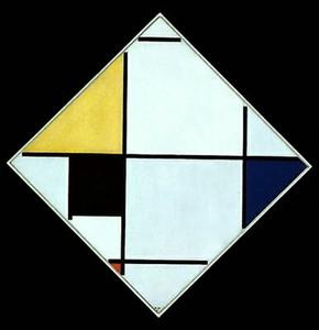 Piet Mondrian - Composition Diagonal
