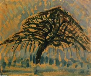 Piet Mondrian - Étude pour Blue Apple Tree Series