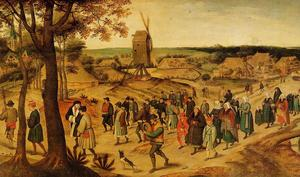 Pieter Bruegel The Younger - La procession de mariage