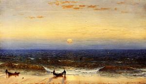 Sanford Robinson Gifford - Lever du soleil , long branche , new jersey