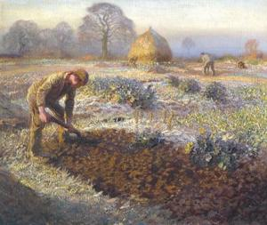 George Clausen - A Frosty Mars Matin