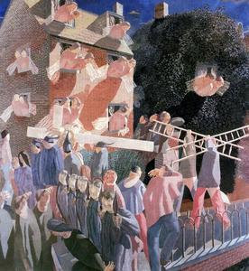 Stanley Spencer - Le Christ portant la cross