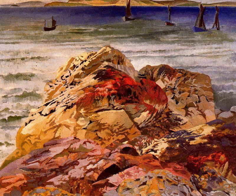 Bateaux de pêche. St Ives de Stanley Spencer (1891-1959, United Kingdom)