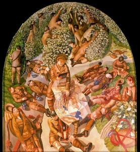 Stanley Spencer - Lecture de la carte
