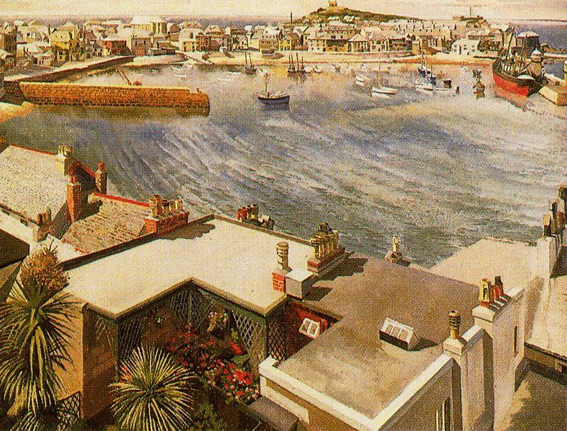 Le Harbour. St Ives de Stanley Spencer (1891-1959, United Kingdom)