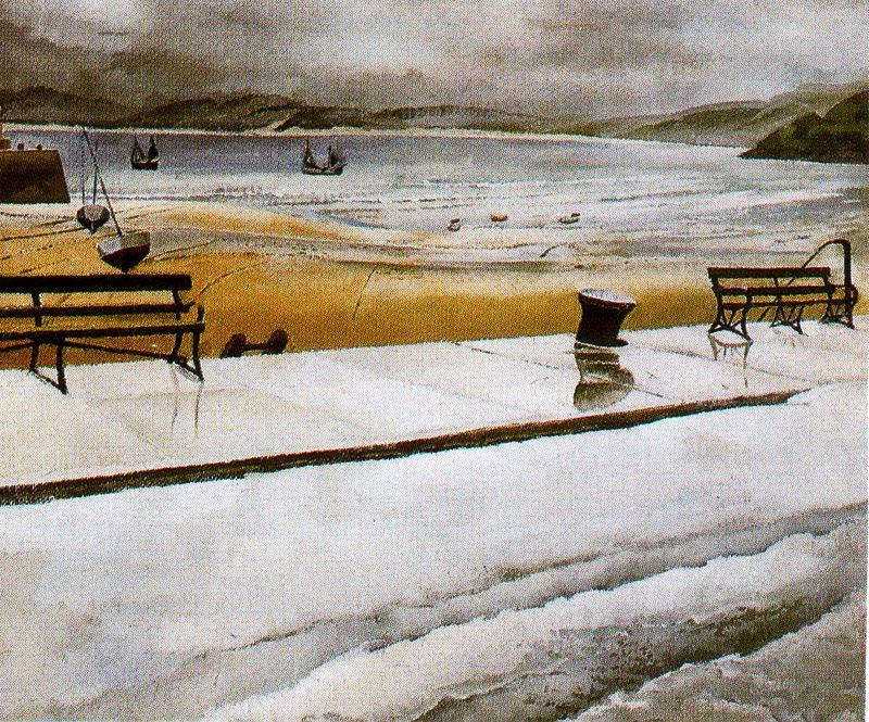 Matin humide. St Ives de Stanley Spencer (1891-1959, United Kingdom)