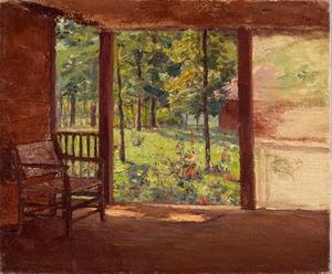Theodore Clement Steele - a vue de l' `porch`