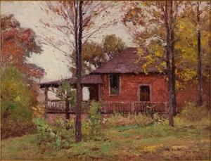 Theodore Clement Steele - jour pluvieux , Le Home