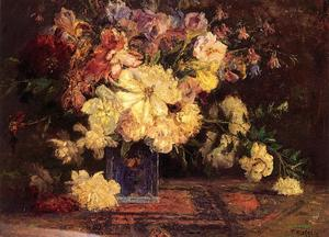 Theodore Clement Steele - nature morte avec pivoines