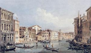 Thomas Girtin - Grandiose Canal , Venise ( après canaletto )