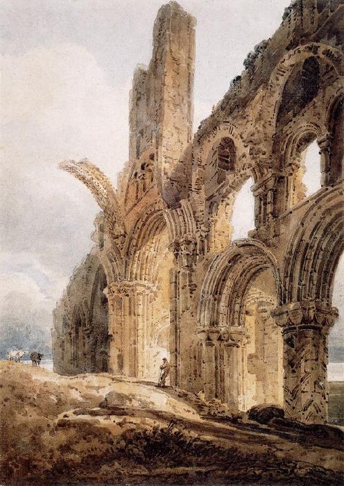 Lindisfarne de Thomas Girtin (1775-1802, United Kingdom) | Reproductions D'œuvres D'art Thomas Girtin | WahooArt.com