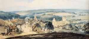 Thomas Girtin - le village of Jedburgh , Scotland