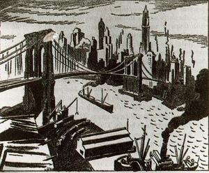 Thomas Hart Benton - Le Brooklyn Bridge 1