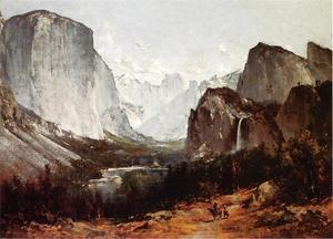 Thomas Hill - a vue d' `yosemite` vallée