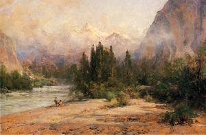 Thomas Hill - bow river gap à banff , le chemin de fer canadien pacifique